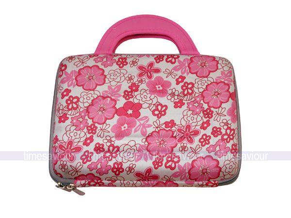 Pink Flower Print Laptop Hard Case for 10 Netbook