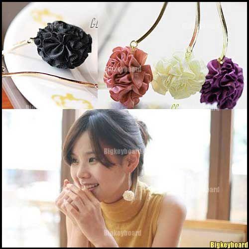 Korean Fashion lovely Rose Flower Dangle Earring