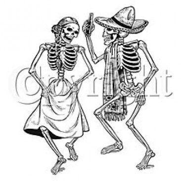 DIA DE LOS MUERTOS DAY OF DEAD DANCING SKELETONS SHIRT