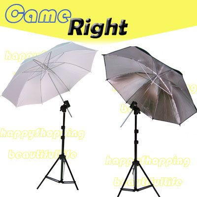 Photography 2 Light stand + Reflector/Diffuser umbrella