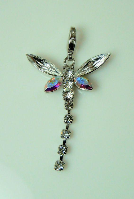 Kirks Folly Crystal Wishing Dragonfly Charm