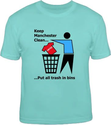 KEEP MANCHESTER CLEAN funny football city t shirt S 6XL