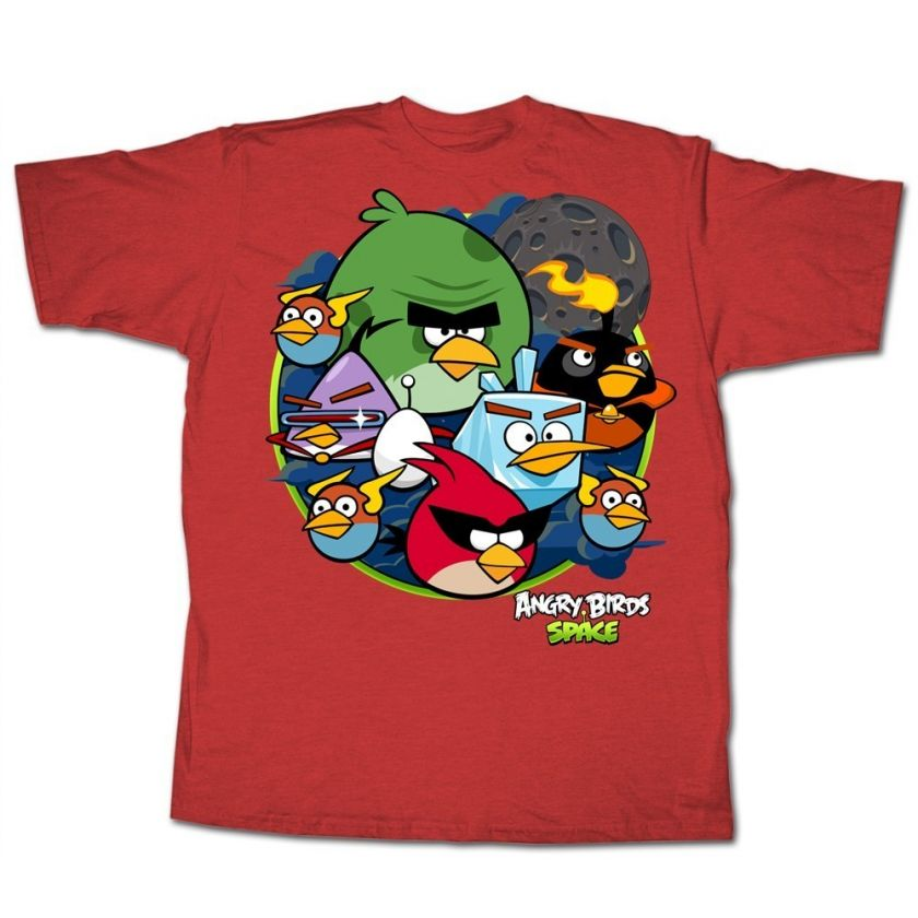 Angry Birds Space Crew Men Official T Shirt