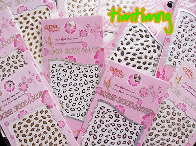 10 Sheets Assorted Animal Print 3D Nail Art Stickers Decals #OPQ