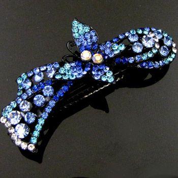 ADDL Item , 1pc rhinestone crystal butterfly hair