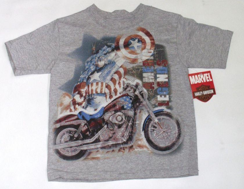 Harley Davidson Toddler Boy Captain America T Shirt   Marvel Short