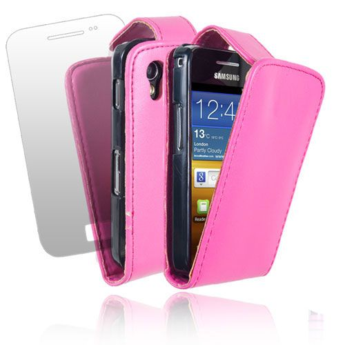 LEATHER FLIP CASE COVER & SCREEN PROTECTOR FOR VARIOUS SAMSUNG PHONES
