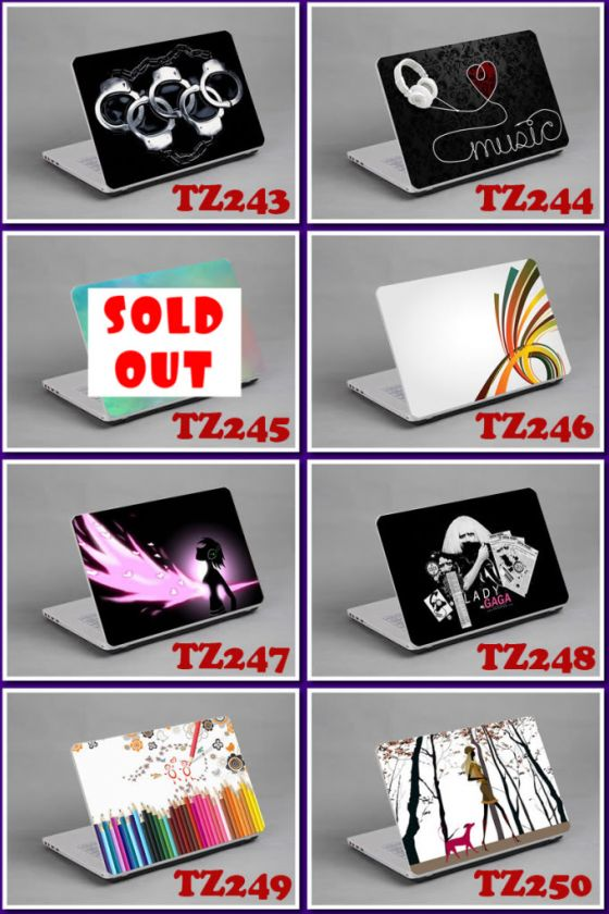 LAPTOP NOTEBOOK SKIN STICKER COVER DECAL ART PROTECTOR DELL LENOVO MAC