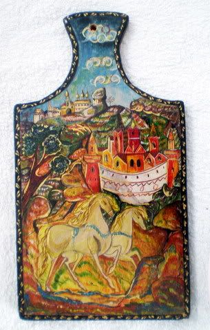 Russian Art Oil Painting Wood Hand Made Painted Signed |